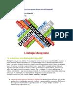 Curs Graphic Design – 1. Limbajul Designului