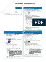Cobas u411 Quick Reference Card