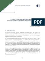 Regulacion Del Analisis Financiero