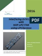 Interfacing LCD With LPC1769