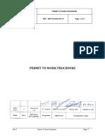 010- Permit to Work Procedure Feb 2013