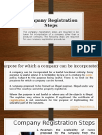 Company Registration Steps