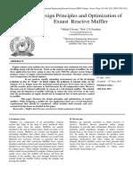 Design Principles and Optimization of Exaust Reactive Muffler