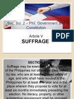 Suffrage Article v PPT