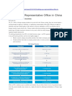Foreign Enterprise's Representative Office in China