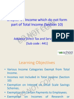 Income Not Part of Total Income