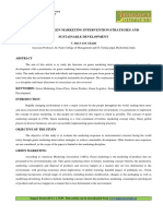 A STUDY ON GREEN MARKETING INTERVENTION STRATEGIES AND SUSTAINABLE DEVELOPMENT