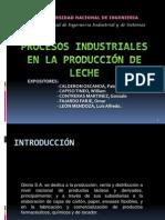 Proceso de producción de La Leche