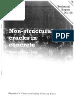 Non Structural Cracks in Concrete