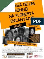 """A MAGIA DE UM SONHO NA FLORESTA ENCANTADA - """"Cartaz"""""""