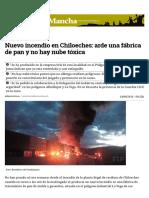 Nuevo Incendio en Chiloeches_ Arde Una Fábrica de Pan y No Hay Nube Tóxica