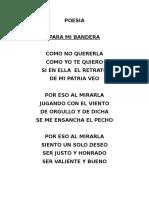 Poesia Mi Banderita