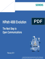 HiPath 4000 V6 Customer Presentation Evolution