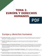 2. Europa y Derechos Humanos