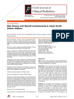 Skin disease and thyroid autoimmunity in atopic South Italian children