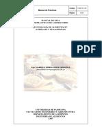 Manual de practicas Tecnología de Alimentos IV