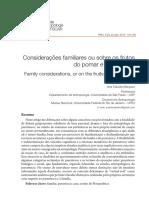 Considerações Familiares Ou Sobre Os Frutos Do Pomar e Da Caatinga