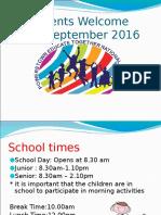 junior infants parents info sept 2016