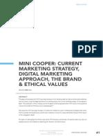 Mini Cooper Current MKT Strategy
