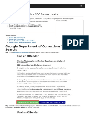 Georgia Inmate Search Department of Corrections Lookup