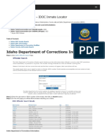 Idaho Inmate Search Department of Corrections Lookup