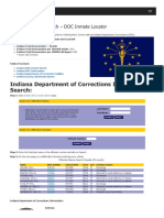 Indiana Inmate Search Department of Corrections Lookup