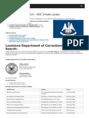 Louisiana Inmate Search