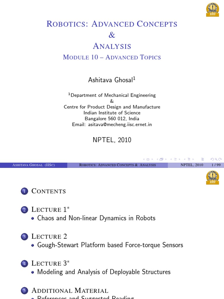 10  advanced topics in robotics pdf | Chaos Theory | Attractor
