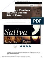 Why Yogic Practices Are Often Done in Sets of Three