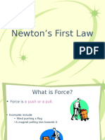 newton first law