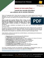 Communique de Presse Fnac - Les Making-Of Exclusifs Fnac