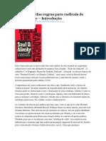 Um Raio X Das Regras Para Radicais de Saul Alinsky