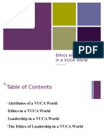 Ethics and Leadership in a VUCA World