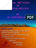 Clinical Methode of Ophthalmologi DR.feriYANI.sp.M