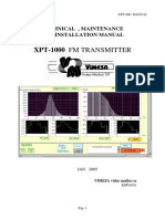 Manual transmisor fm Vimesa 1KW XPT1000