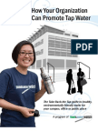 How Your Organization Can Promote Tap Water