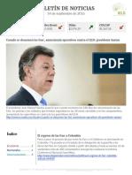 Boletín de noticias KLR 14SEP2016