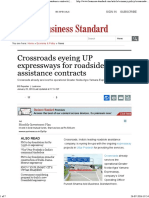 Crossroads Eyeing UP Expressways for Roadside Assistance Contracts _ Business Standard News