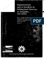(AEA)-Reglamentación Para La Ejecución de Instalaciones Eléctricas en Inmuebles-90364-7-771-2006