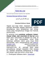 Download Ratusan Software Islami