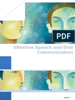 Effective Speech and Oral Communication