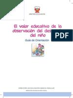 Valor Educativo de La Observacion Del Desarrollo Del Nino Ministerio de Educacion Peru