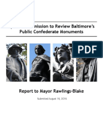 Special Commission to Review Baltimore's Public Confederate Monuments | Report to Mayor Rawlings-Blake