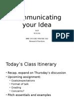 Communicating Your Idea