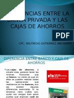 Diferencias Banco y Cajas
