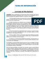 Comunicado de Rita Barbera Tras Su Renuncia Al PP