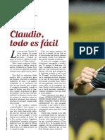 Claudio, todo es fácil...