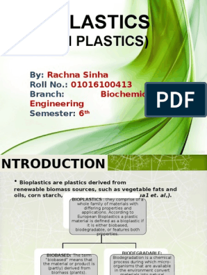 Bioplastic | Chemistry | Materials