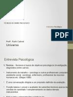 TEP 1 AULA 4  2015 ENTREVISTA PSICOLOGICA.pptx
