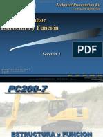 Curso Excavadora Hidraulica Pc200 Lc 7 Komatsu Estructura Funciones Cabina Sistema Monitor Componentes Elementos